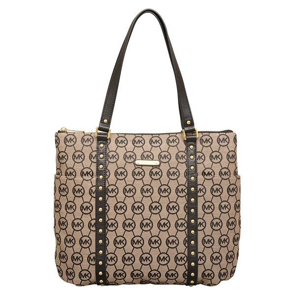 MICHAEL Michael Kors Large Jet Set Stud Top Zip Tote