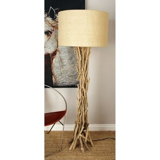 Natural 59 x 13 Inch Beige Driftwood Twigs Floor Lamp by Studio 350