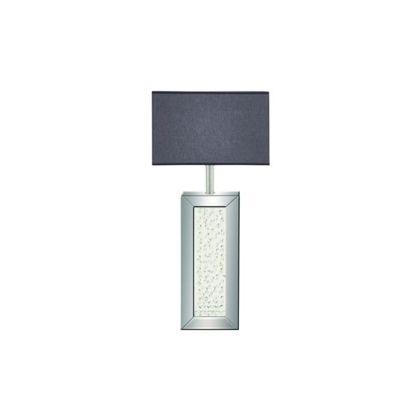 Grey MDF/Glass Table Lamp