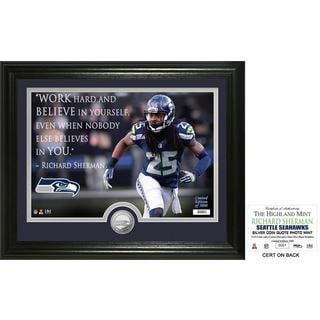 """Richard Sherman """"Quote"""" Silver Coin Photo Mint"""