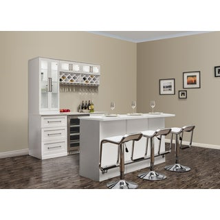 NewAge Products Island White 11-piece Shaker-style Home Bar
