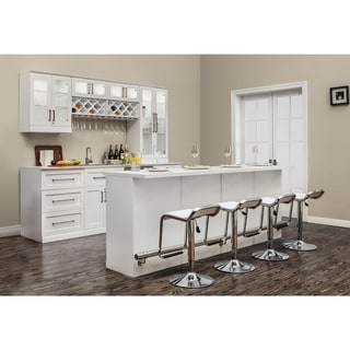 NewAge Products Home Bar 15 PC Island White Shaker Style