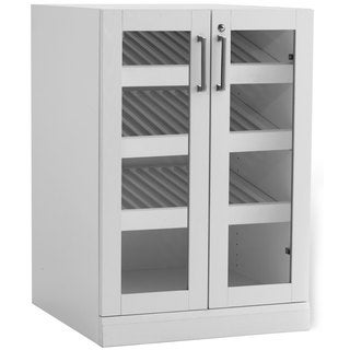 NewAge Products Home Bar White Shaker Style Display Cabinet