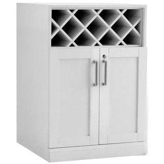 NewAge Products Home Bar White 24-inch Wide x 24-inch Deep Shaker Style Wine Storage Cabinet