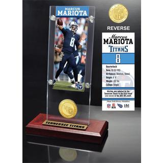 Marcus Mariota Ticket & Bronze Coin Ticket Acrylic