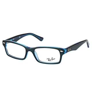 Ray-Ban RY 1530 3667 Blue On Fluorescent Blue Plastic Rectangle 48mm Eyeglasses