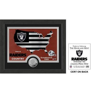 Oakland Raiders Man Cave Bronze Coin Panoramic Photo
