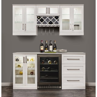 NewAge Products White wooden Shaker Style Home Bar