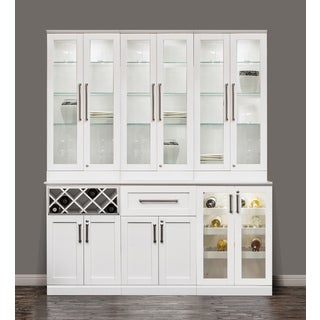 NewAge Products Home Bar 72-inch Long x 25-inch Wide White Shaker Style Cabinet (7-piece Set)