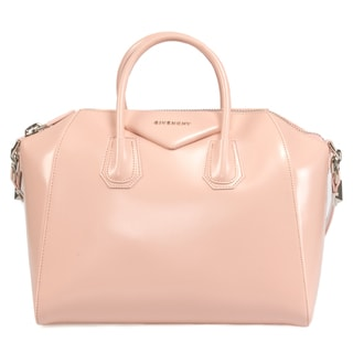 Givenchy Antigona Calfskin Leather Satchel Bag in Pink w/ Silver Hardware Size Medium