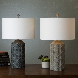 Castr Table Lamp with Antique Resin Base