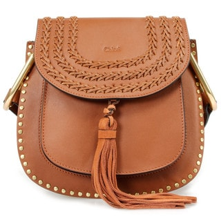 Chloe Hudson Calfskin Shoulder Bag in Brown w/ Gold Hardware Size Small