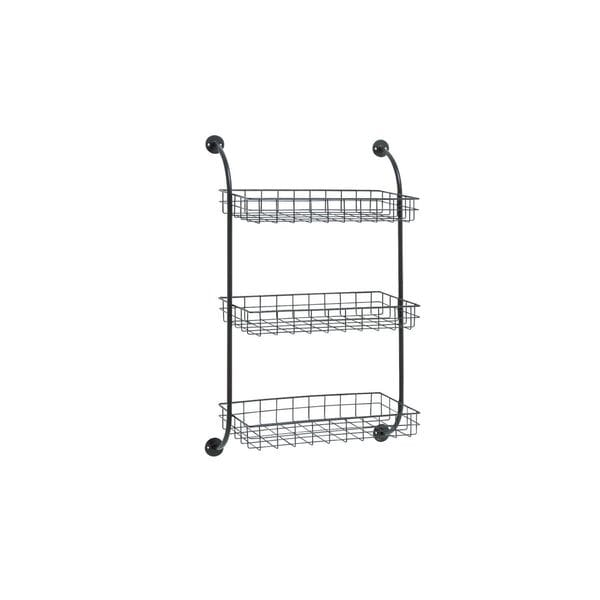 Black Metal Wall Storage Rack