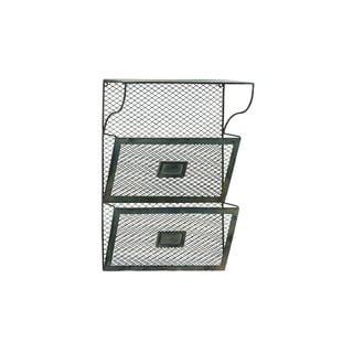 Grey Metal Wire 14-inch x 20-inch Shelf Organizer