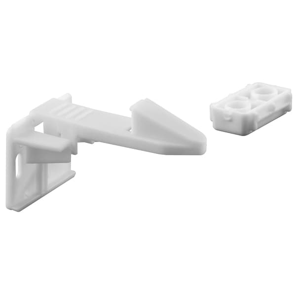 Prime Line S4719 White Spring Loaded Cabinet Catch (Pack of 3)