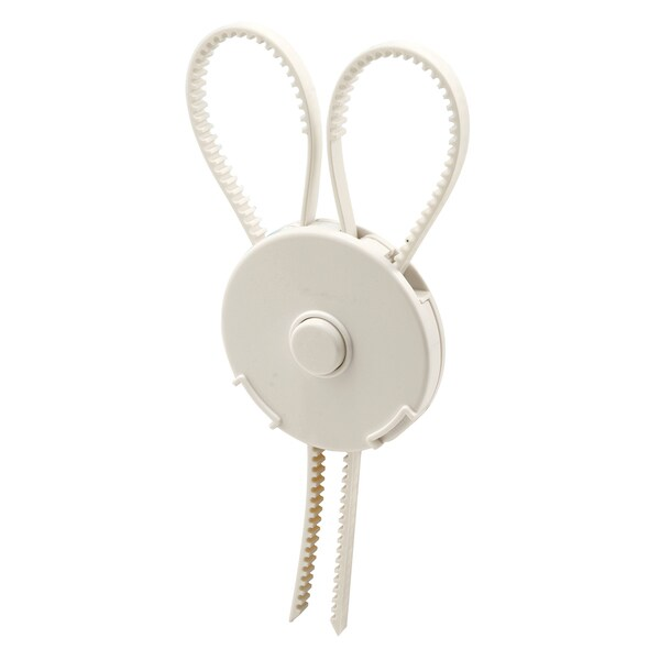 Prime Line S4624 White Cabinet Knob Strap Lock