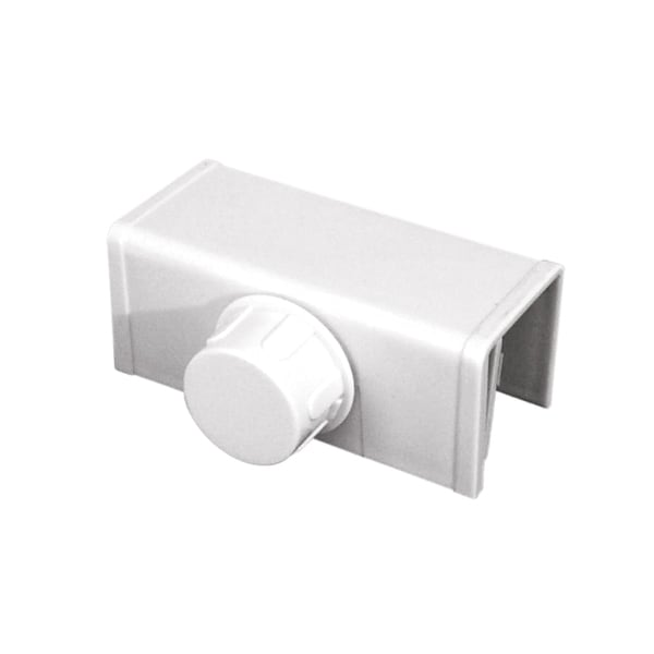 Prime Line S4553 White Bi-folding Closet Door Lock