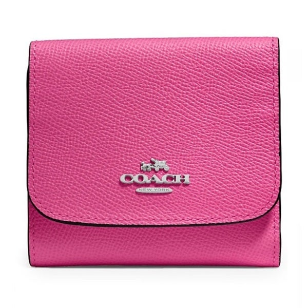 Coach Crossgrain Dahlia Small Leather Wallet