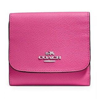Coach Crossgrain Dahlia Small Leather Wallet