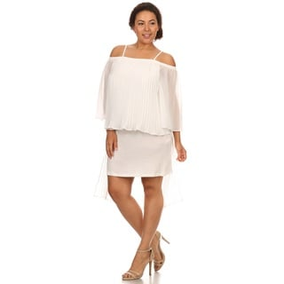 Hadari Woman Plus size evening black dress