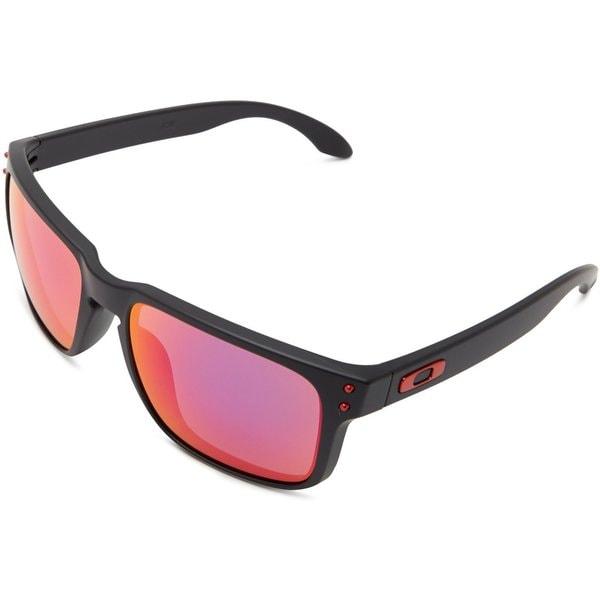 Oakley Holbrook Matte Black With Positive Red Iridium Lens Sunglasses