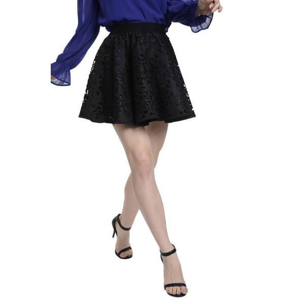 Romeo + Juliet Couture Woven Laser-cut Skirt
