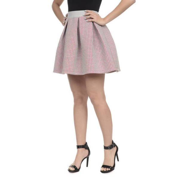 Romeo + Juliet Couture Pleated Laser-Cut Skirt