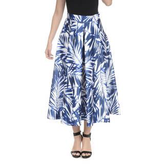 Romeo + Juliet Couture Satin Floral Midi Skirt