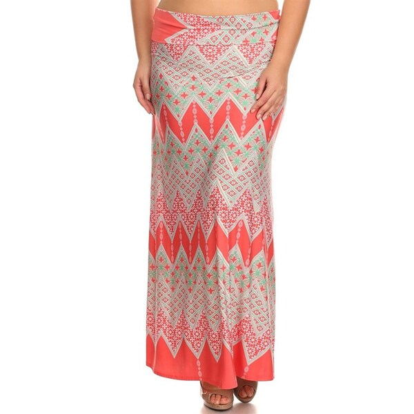 Plus Size Paisley Tapestry Maxi Skirt