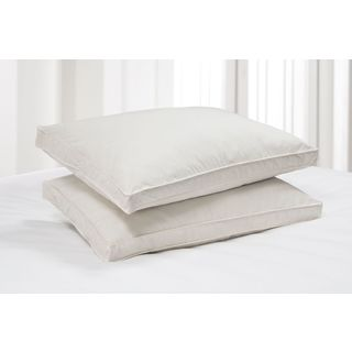 Elle Eco Unbleached Cotton Jumbo-size Natural Feather Pillow (Set of 2)
