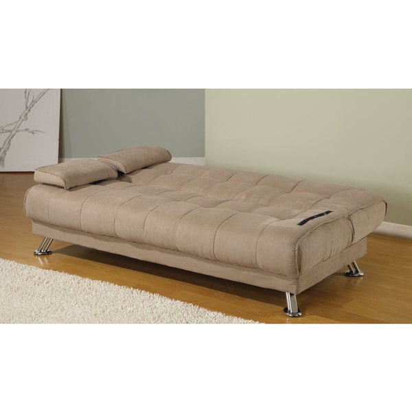 Coaster Company Tan Microfiber Sofa Bed