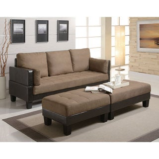 Coaster Company Tan/ Brown Microfiber and Vinyl Sofa Bed