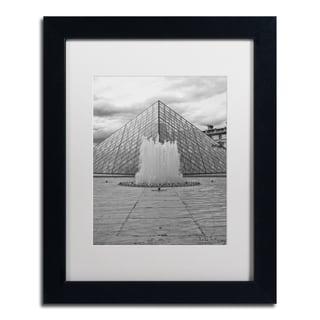 Yale Gurney 'Paris Deux - Louvre' Matted Framed Art