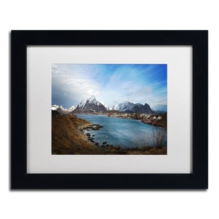 Philippe Sainte-Laudy 'Reine - Norway' Matted Framed Art