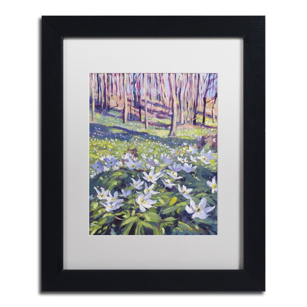 David Lloyd Glover 'Anemones in the Meadow' Matted Framed Art
