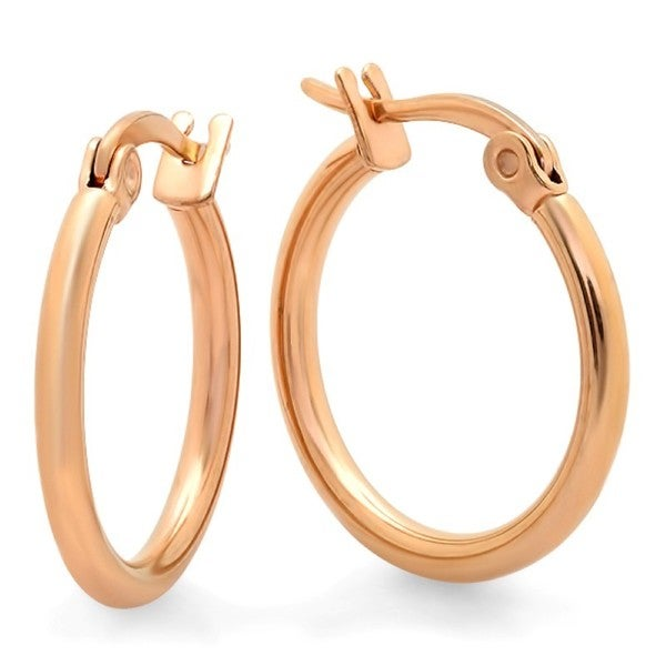 18k Rose-goldplated 15mm Hoop Earrings