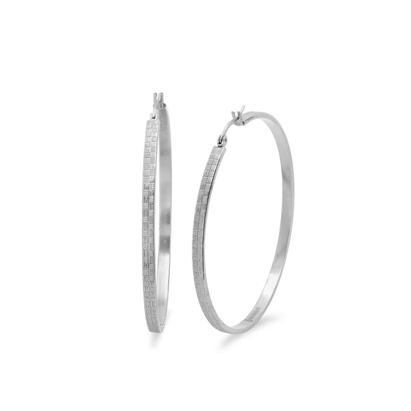 55mm Textured Hoop Earrings