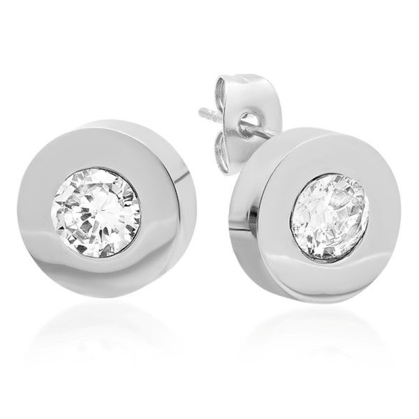 Swarovski Elements Silvertone Stud Earrings