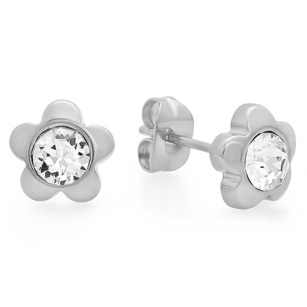 Swarovski Elements Flower Studs