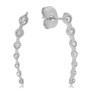 Stainless Steel Cubic Zirconia Delicate Ear Climber