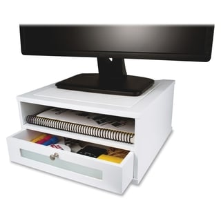 Victor Monitor Riser - White