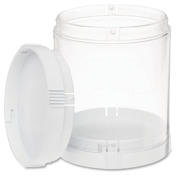 Deflect-o Interlocking Storage Canister - Clear