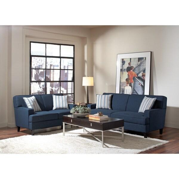 Blue Linen Loveseat/Sofa