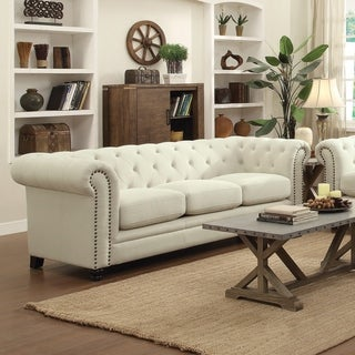 White Bonded Leather Sofa/Loveseat