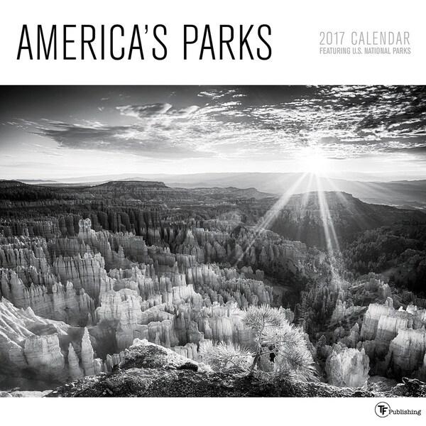 2017 America's Parks Wall Calendar