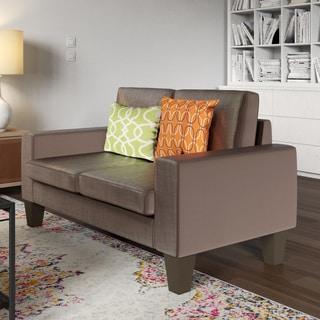 Brown Linen Fabric Sofa