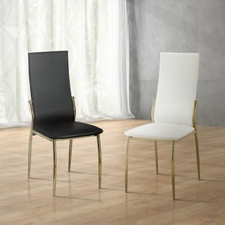 Furniture of America Duarte II Modern Leatherette Dining Chairs (Set of 2)