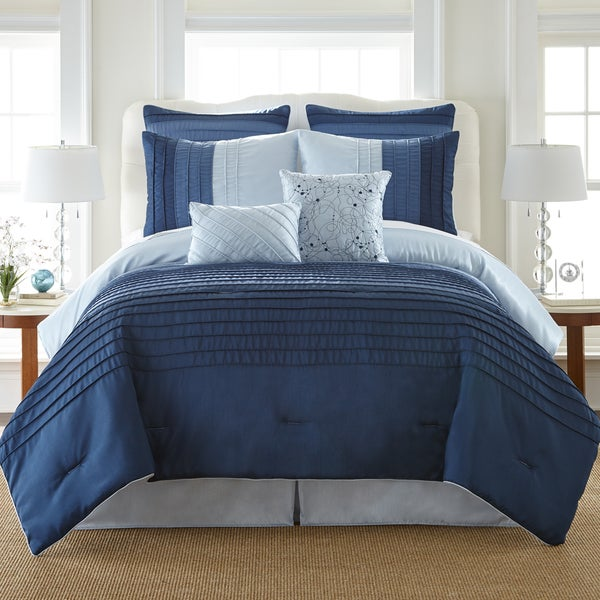 Ocean Drive Pleated 8-piece Comforter Set