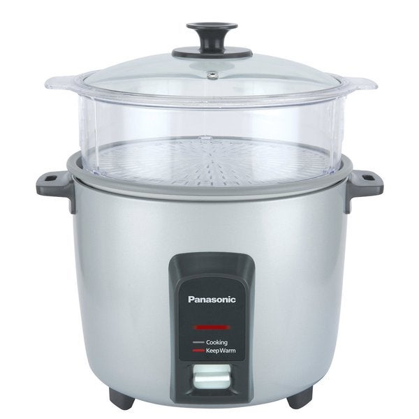 Panasonic 12-Cup Rice Cooker and Steamer Silver 19568243