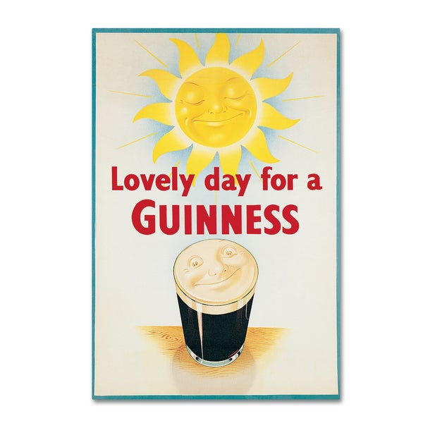 Guinness Brewery 'Lovely Day For A Guinness XIV' Canvas Art 19568341